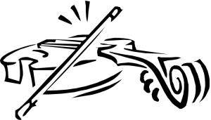 Violin line drawing