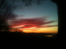 Sunset from Quincy Hill 11-10-12