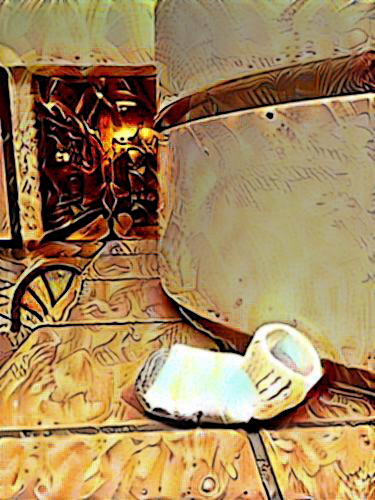 Mall Still Life with Sock